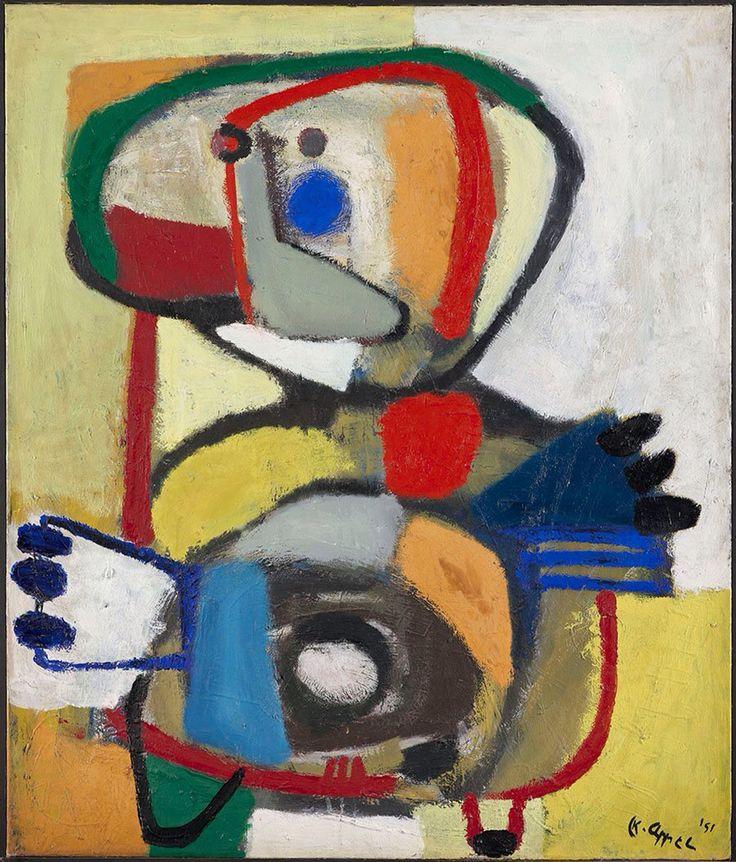 Karel Appel (1921-2006) Nederland kon in de jaren na de Tweede Wereldoorlog geen enkele waardering opbrengen voor een kunstschilder, die dingen maakte die ieders zoontje óók kon maken als je hem verf en kwast in de handen drukte. Bij het grote publiek verguisd, ontvluchtte ook Appel het benepen kunstklimaat in de Lage Landen om zich te laven aan de avant-garde in de Franse hoofdstad. Appel zou nooit meer terugkeren naar Nederland.