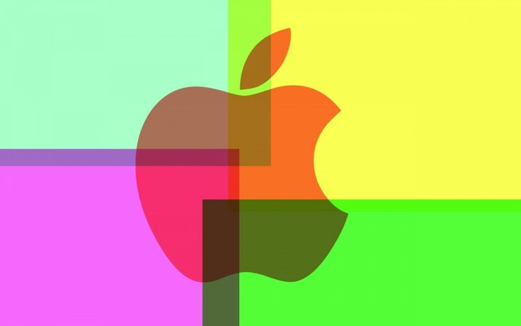 Kleurrijke Apple-logo - wallpapers: http://wallpapic.nl/computer-en-technologie/kleurrijke-apple-logo/wallpaper-11830