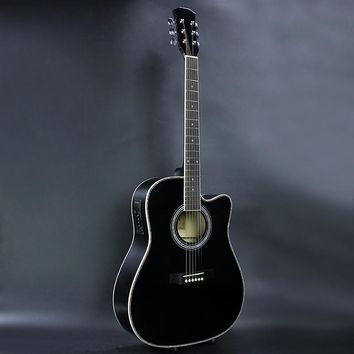41 51 New 41 Inch 4eq Glossy Paint Black Color Electric Acoustic
