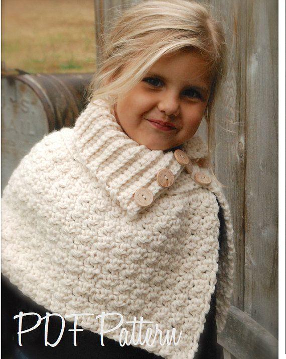 Crochet PATTERNThe Finleigh Cape 12/18 months by Thevelvetacorn