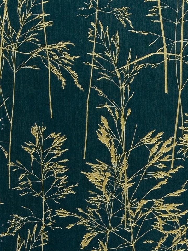 Dark Teal Foil Tree Amp Faux Linen Wallpaper