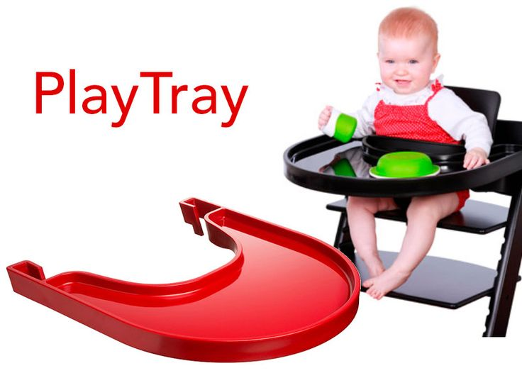 Playtray goes with Stokke Tripp Trapp high chair, and can be used from your child is about five months approximately until three years. Playtray is designed with a practical brim, to prevent food and toys to fall on the floor. Playtray is designed by Carsten Buhl and is developed and produced in Denmark. Available in white, black, transparent and red. Playtray is 100 % free of phthalates and other harmful substances You can safely let your child eat and play with a Playtray.