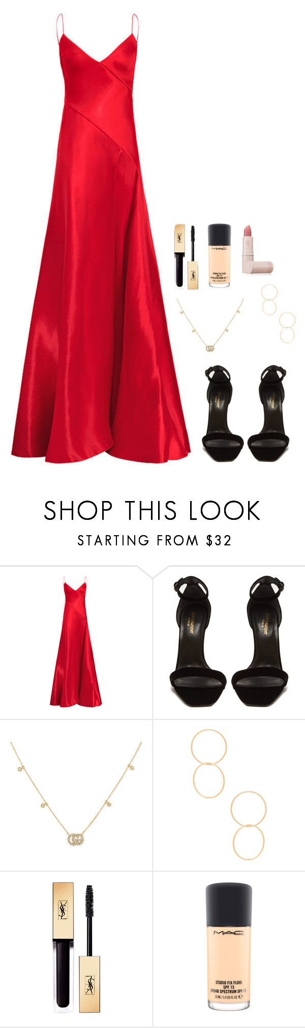 """""""Untitled #1227"""" by h1234l on Polyvore featuring Yves Saint Laurent, Gucci, Ettika, MAC Cosmetics and Lipstick Queen"""