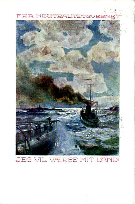 Patriotisk kort Jeg vil værge mit land Utg Forsvarsforeningen 1930-tallet