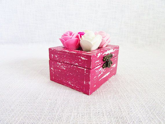 Custom roses box pink jewelry box custom gift wedding ring