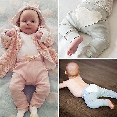 Новый Малышей Младенческой Baby Boy Девушка Одежда Милые Сердцу Хлопок Снизу розовые Штаны Случайные Свободные Брюки Леггинсы 6 12 18 24 Месяцев #women, #men, #hats, #watches, #belts