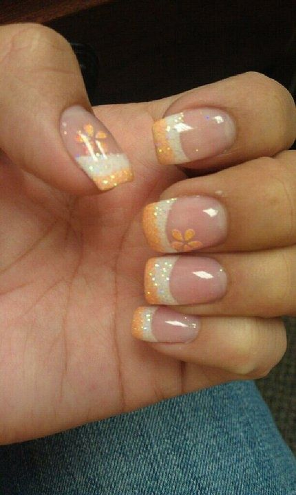 Creamsicle color combo | This is so pretty. #youresopretty