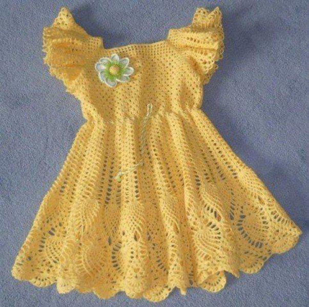 Patrones de vestidos tejidos a crochet para imprimir