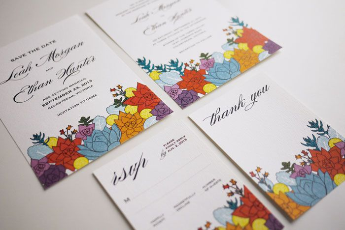 The Succulent Wedding Invitation Suite (PRINTABLE)   Dinner invitation possibility!!