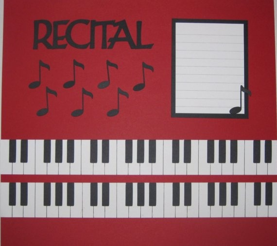 Piano / Recital Scrapbook Page Layout on Etsy