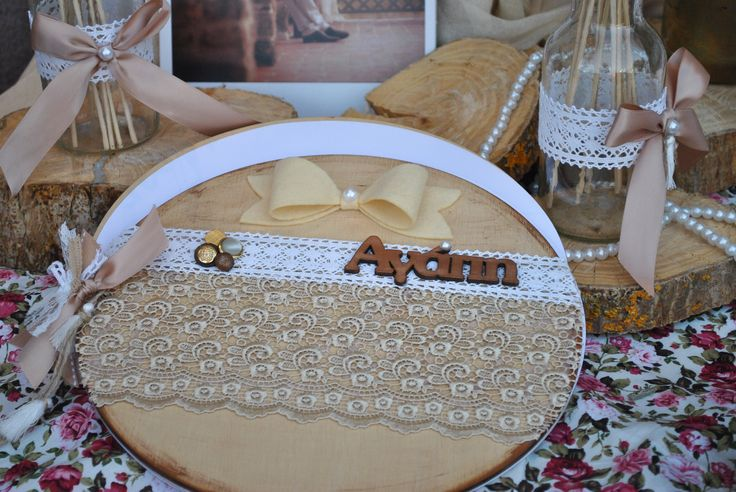 Wooden Romantic Guestbook wishes