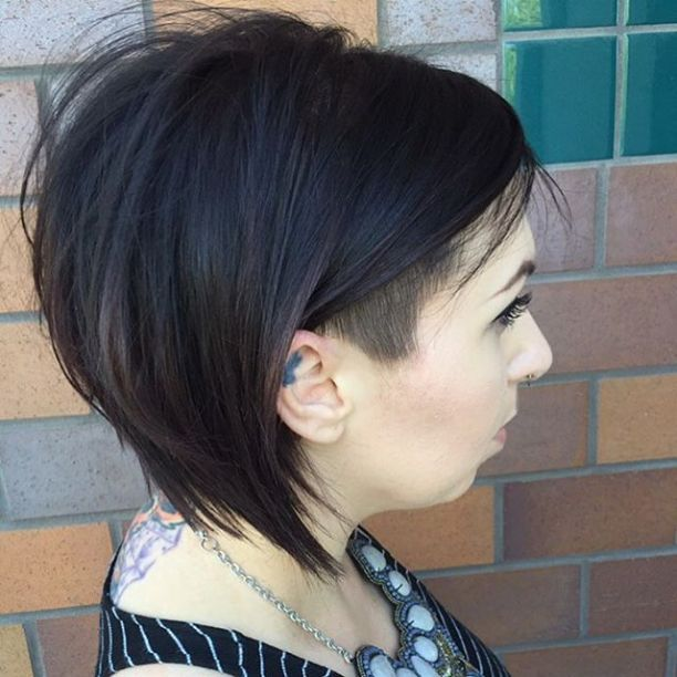 Dark Brown Bob With Side Undercut