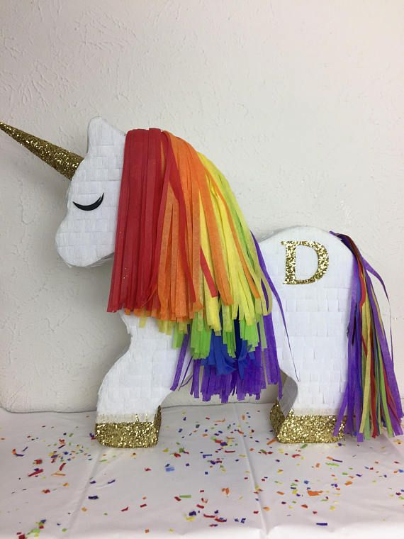 Customizable Momogram Unicorn Piñata