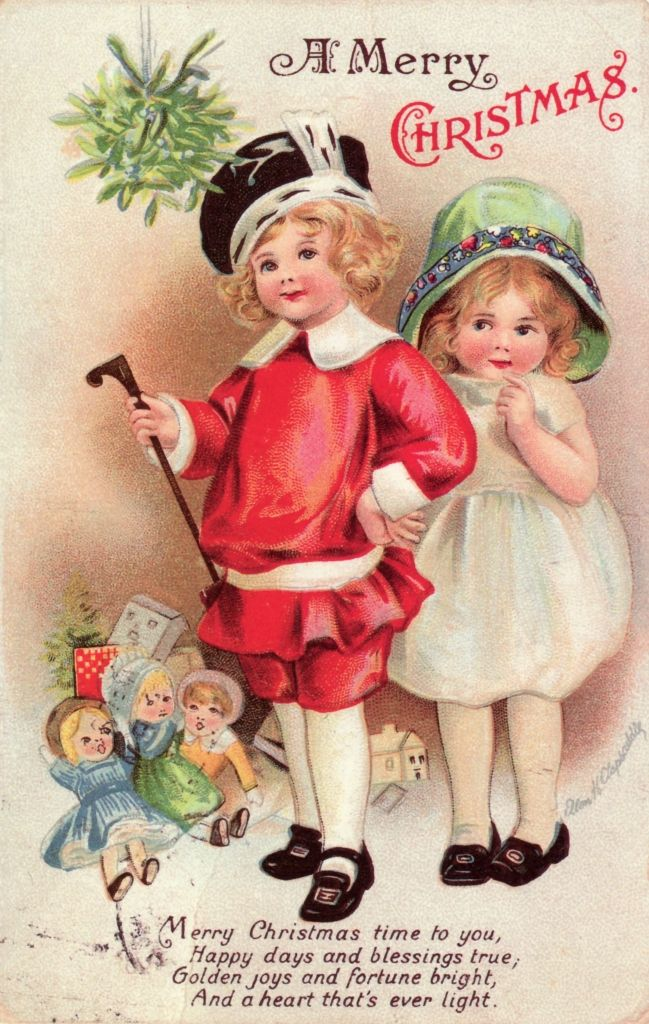 Victorian greeting cards are precious - there's just no other word as appropriate.  The artwork, the lettering are quality and seldom looked cartoony.  I adore these little girls.