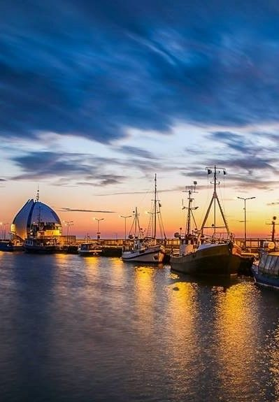 Port in Hel, Poland