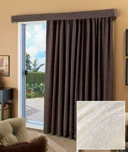 "Ivory 140"" Lose the Louvers Patio Curtain Large Sliding Door Curtains Wide Drape #Handmade #Modern"