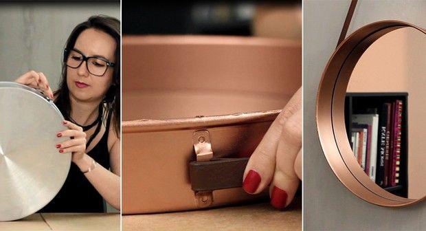 Sabe aquela fôrma redonda que está parada na cozinha? Ela pode se transformar em um espelho descolado para a sua casa. A designer Keila Casarin ensina no vídeo abaixo.
