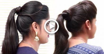 3 einfache Pferdeschwanz Frisuren für School College   - Frisur Abschlussball - #Abschlussball #college #einfache #Frisur #Frisure