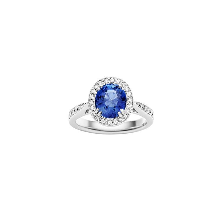 Jan Logan 18ct Diamond and Sapphire Chelsea Ring