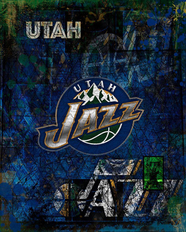 A personal favorite from my Etsy shop https://www.etsy.com/listing/269331424/utah-jazz-art-utah-jazz-poster-utah-jazz