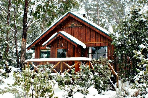 Cradle Mountain Highlanders cabin, located at the edge of the national park. Rates: $110-240 apparently..