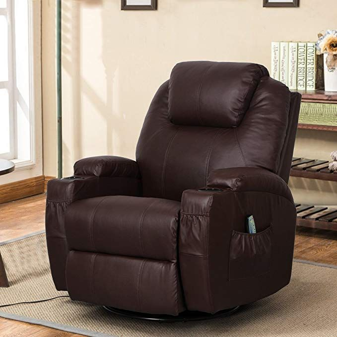 : Esright Massage Recliner Chair Heated PU Leather