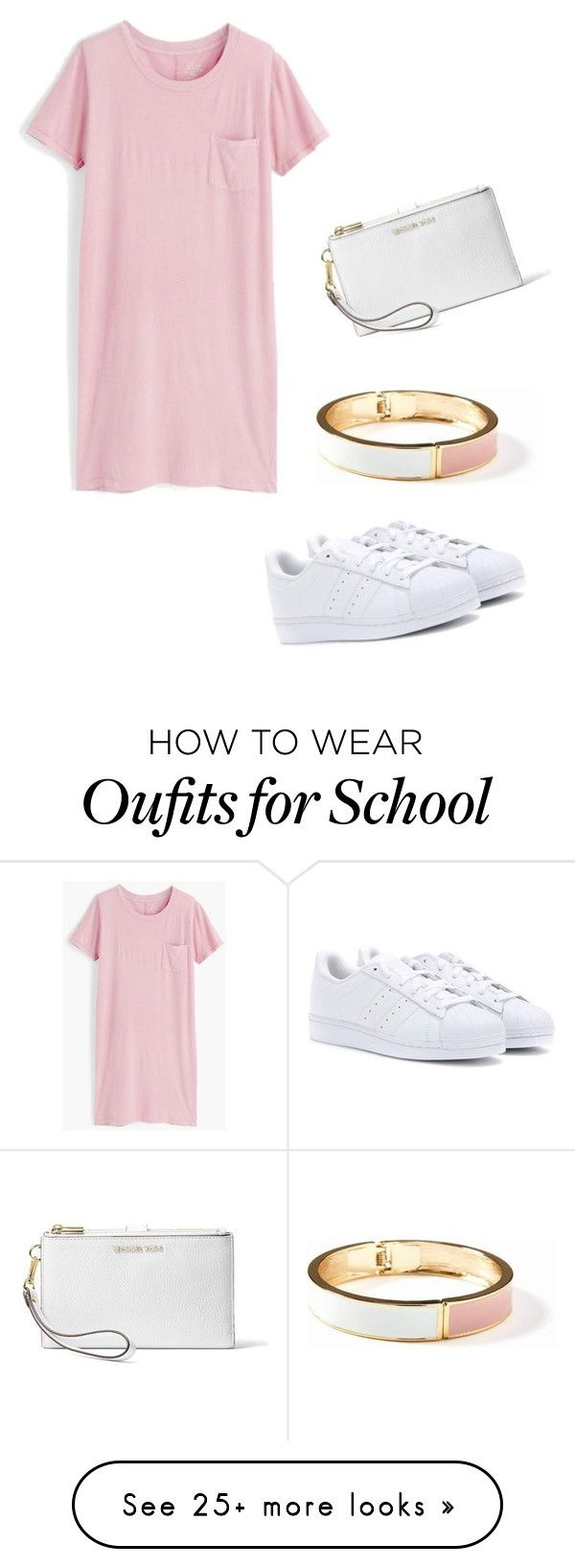 """First day of school"" by maemec180334444 on Polyvore featuring J.Crew, adidas, Old Navy and MICHAEL Michael Kors"