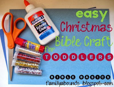 Super cute and easy christmas bible craft for toddlers!