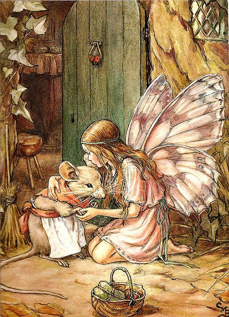 Cicely Mary Barker - fairy shopping.                                                                                                                                                                                 More                                                                                                                                                                                 Más