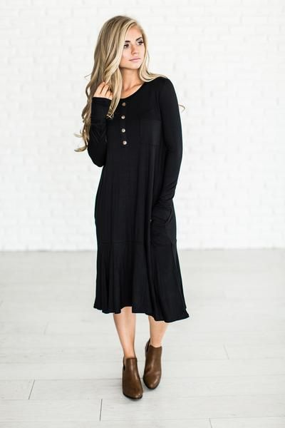 (all sales on April 17th are F I N A L : no returns or exchanges) It's called the Staple Dress for a reason, it will literally become a staple piece. Little twist on the original Little Black Dress -