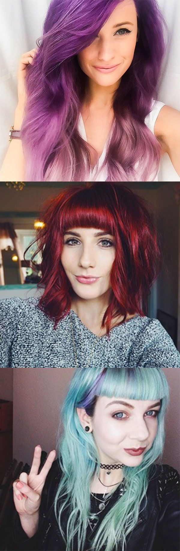 6 Brit bloggers with AMAZING bright hair <3 http://www.cosmopolitan.co.uk/beauty-hair/hair/a35864/bright-hair-colour-inspiration/
