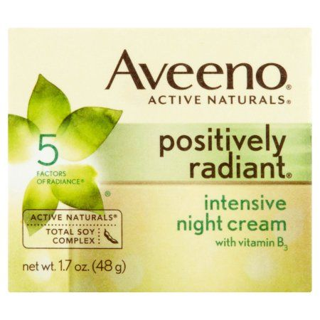 Aveeno Active Naturals Positively Radiant Intensive Night Cream, 1.7 oz