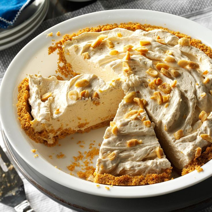 Peanut Butter Cream Pie Recipe -During the warm months, it's nice to ...