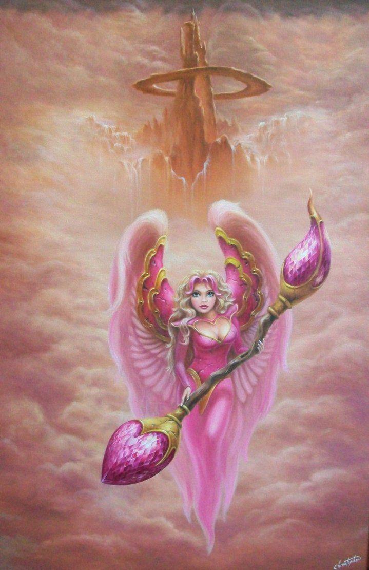 Pink Warrior Angel by ChristopherPollari on deviantART
