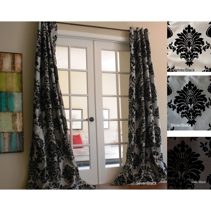 93 Best CURTAINS-BLACK And WHITE Images On Pinterest