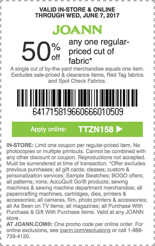 95 best JoAnn Fabrics Coupons / Discounts images on ...