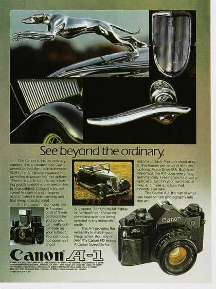 1980s Canon A-1 ad Search Vintage Ad Browser