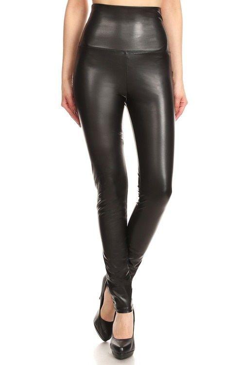 e7b0abf1a08c0d Premium High Waisted Matte Faux Leather Leggings | Only Leggings
