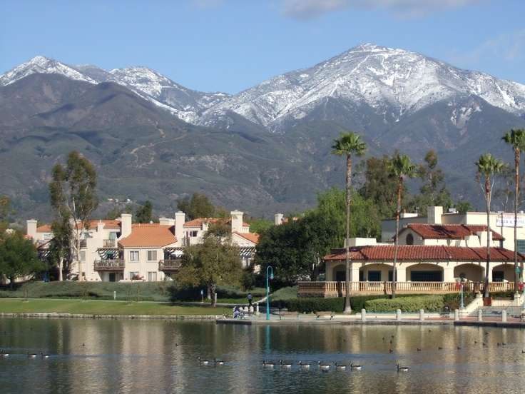 Snow-capped Saddleback Mountain from Rancho Santa Margarita...used to be home.