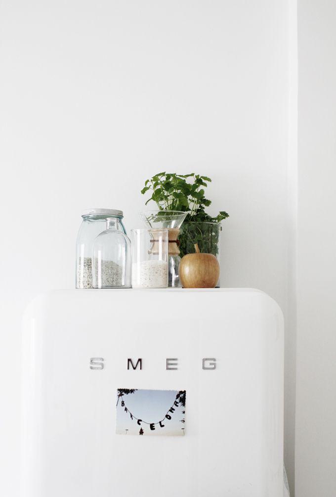 Smeg frigo plantes et petits pots
