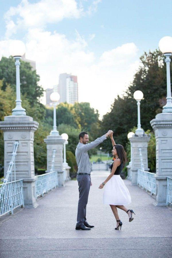 Boston Public Garden Engagement Session: Puja & Raj - BKB & CO. | Boston Wedding Photography and Video Studio
