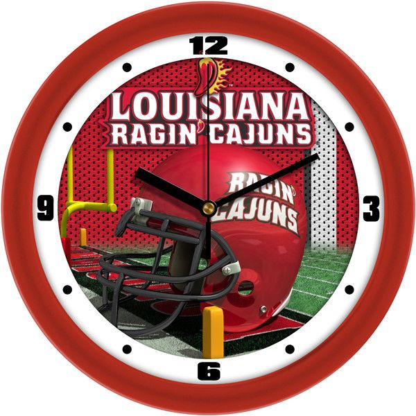 Louisiana Lafayette Ragin Cajuns Football Helmet Wall Clock