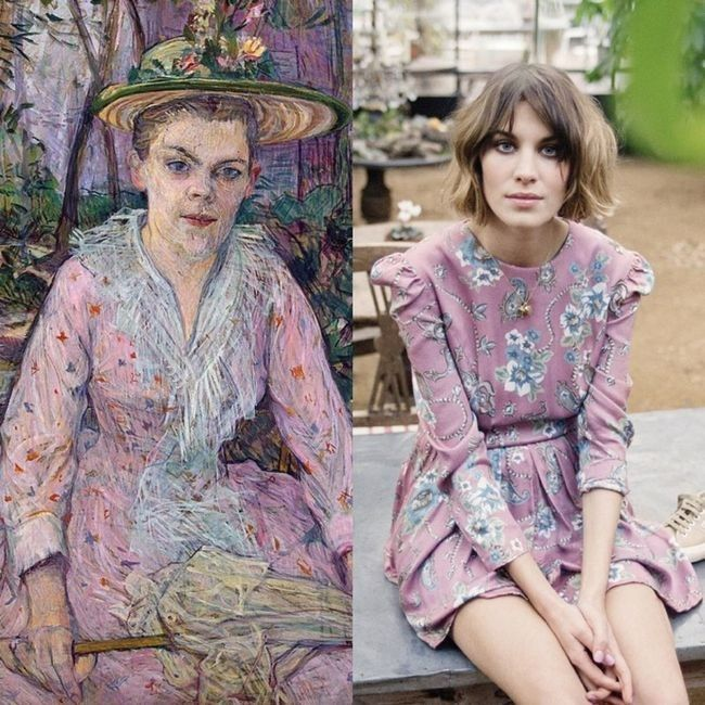 This Instagram account compares Alexa Chung's outfits to classical paintings - Vogue Australia