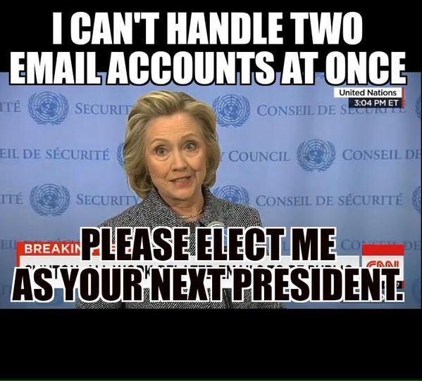 Hillary Clinton for President. Gag.