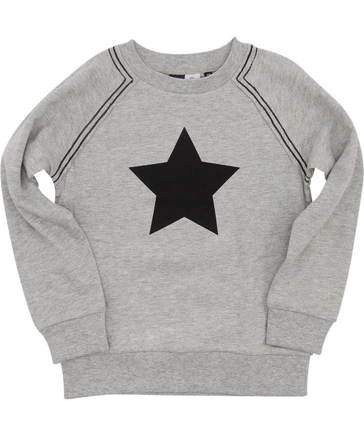 Molo toffe grijze trui met grote zwarte ster. molo.nl.emilea.be