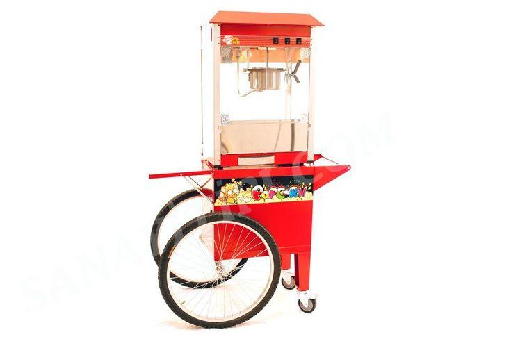 tekerlekli mısır patlatma makinası » - Sanayi tipi