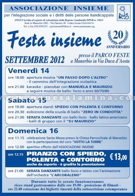 festa insieme a Manerbio http://www.panesalamina.com/2012/4264-festa-insieme-a-manerbio.html