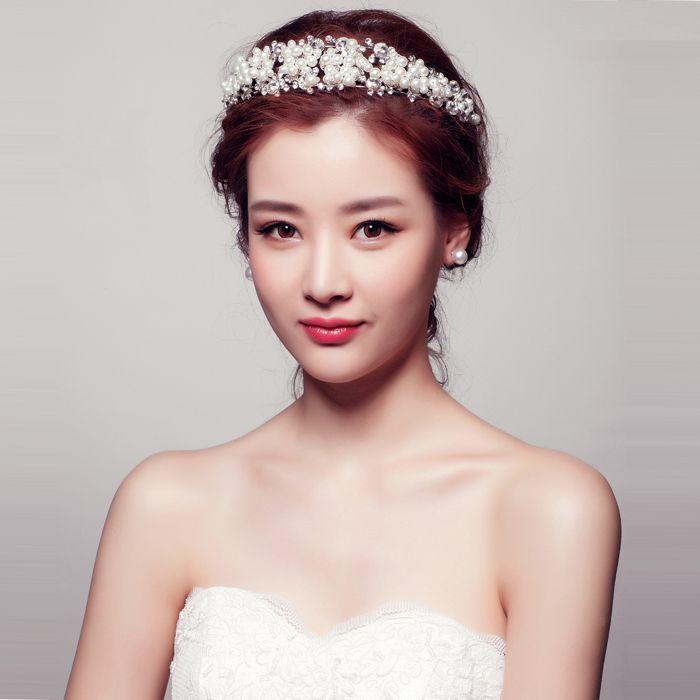 Bouquet Bridal Hairband Headband Flower Garland hair claws wedding head pieces hair accessories wedding jewelry for hair #Affiliate