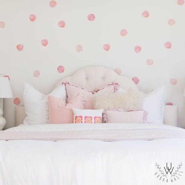 Watercolor Dots Wall Decal Vinyl Wall Stickers Polka Dot Wall Decals Polka Dot Decal