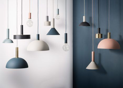 Collect is an interchangeable lighting system that allows users to create customised lamps for different rooms in the house.